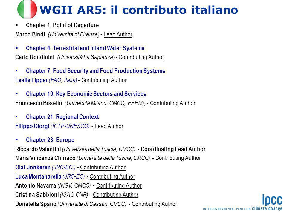 WGII AR5: il contributo italiano
