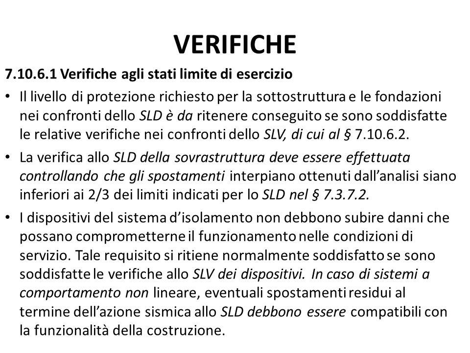 VERIFICHE 7.10.6.1 Verifiche agli stati limite di esercizio