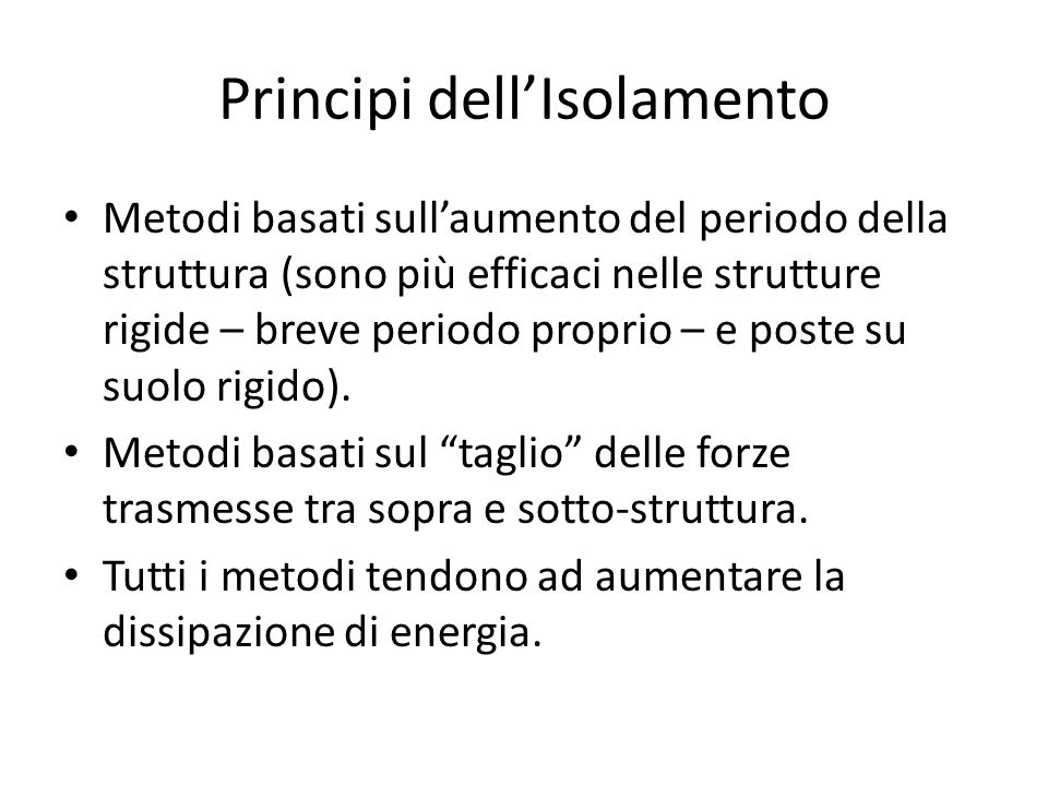 Principi dell'Isolamento