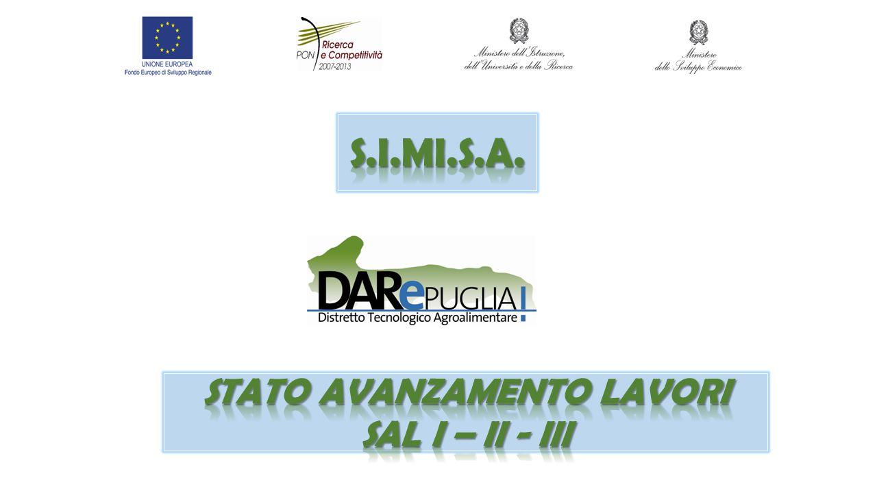 Stato avanzamento lavori SAL I – II - III