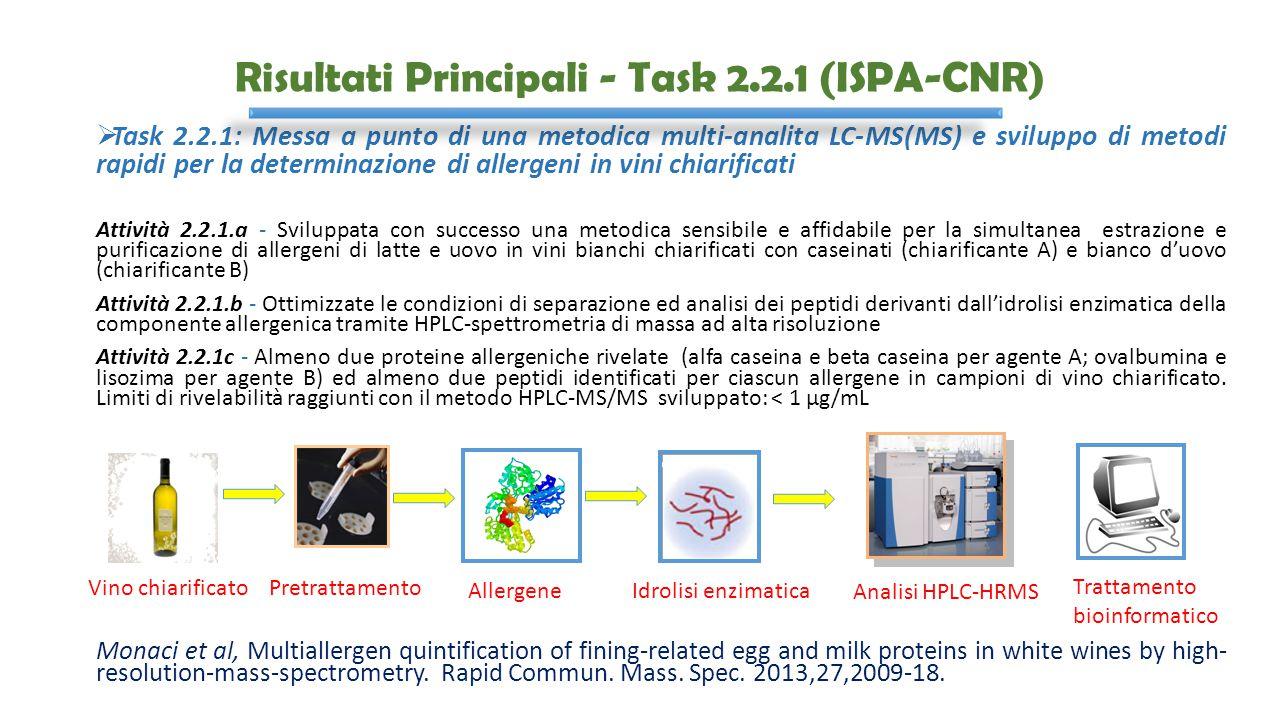 Risultati Principali - Task 2.2.1 (ISPA-CNR)