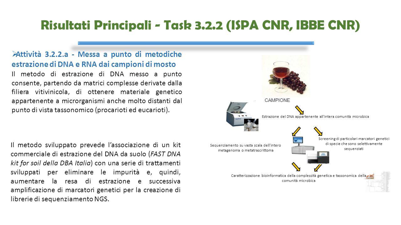 Risultati Principali - Task 3.2.2 (ISPA CNR, IBBE CNR)