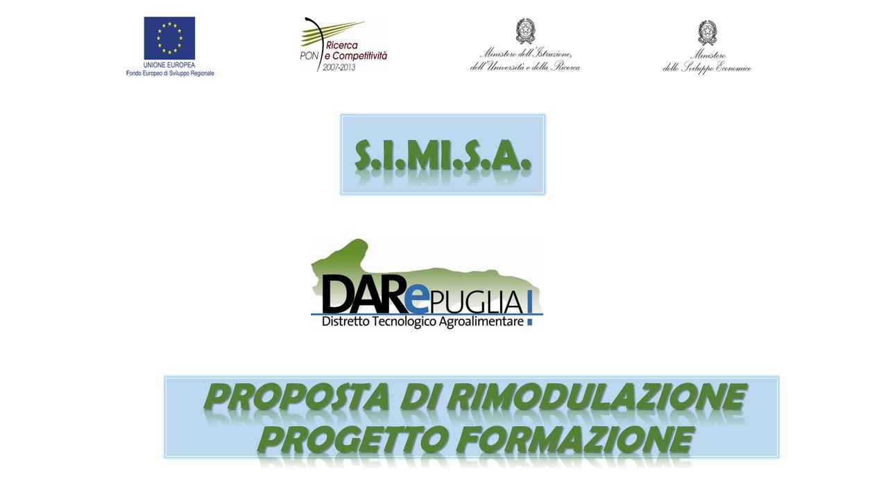 Proposta di rimodulazione progetto formazione