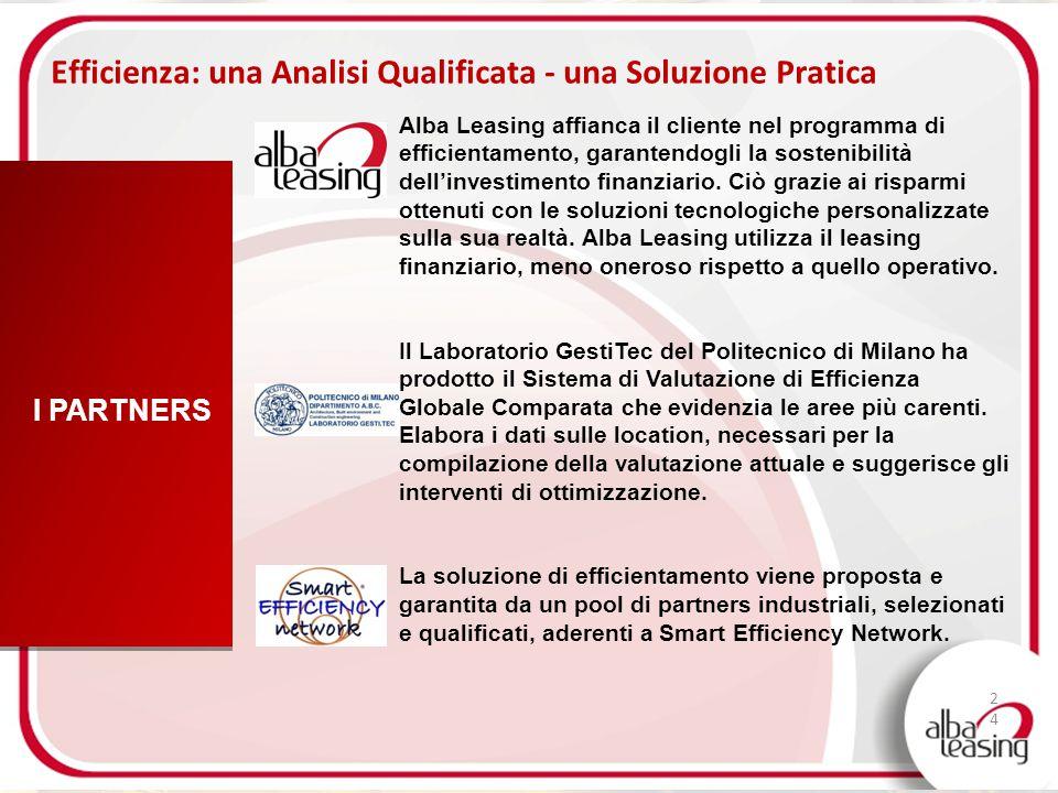 I PARTNERS Efficienza: una Analisi Qualificata - una Soluzione Pratica