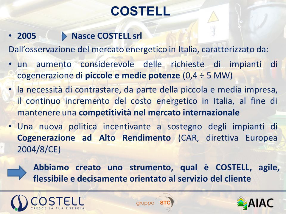 COSTELL 2005 Nasce COSTELL srl