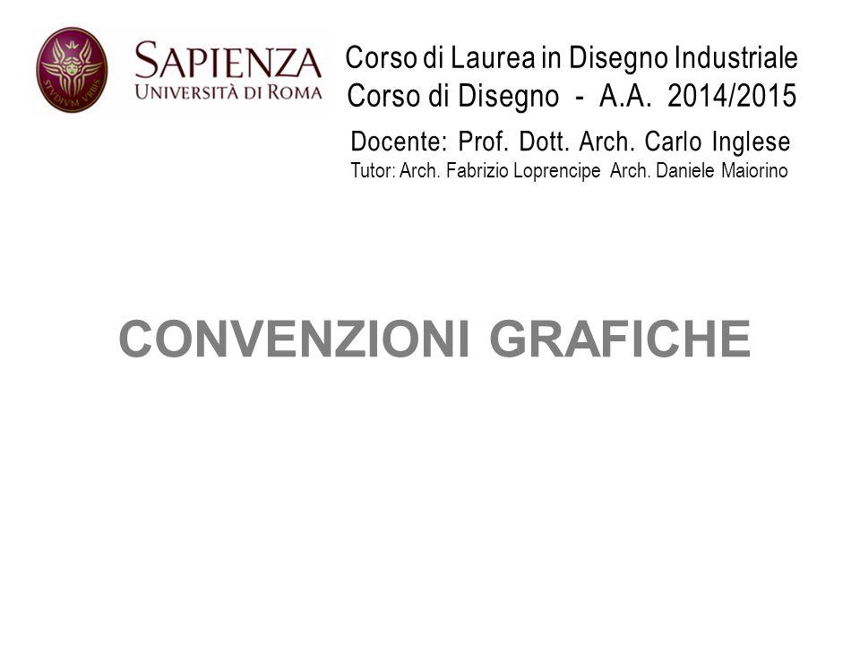 Corso di Laurea in Disegno Industriale Corso di Disegno - A. A