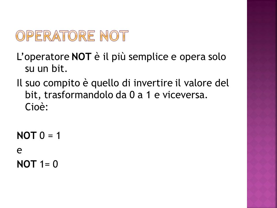 Operatore not