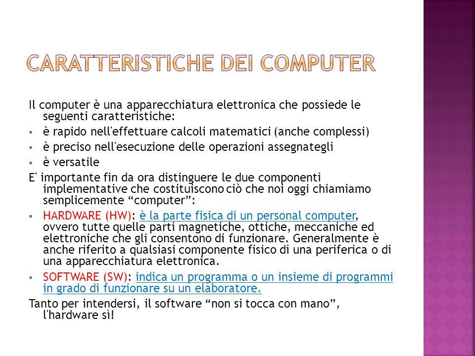 Caratteristiche dei computer