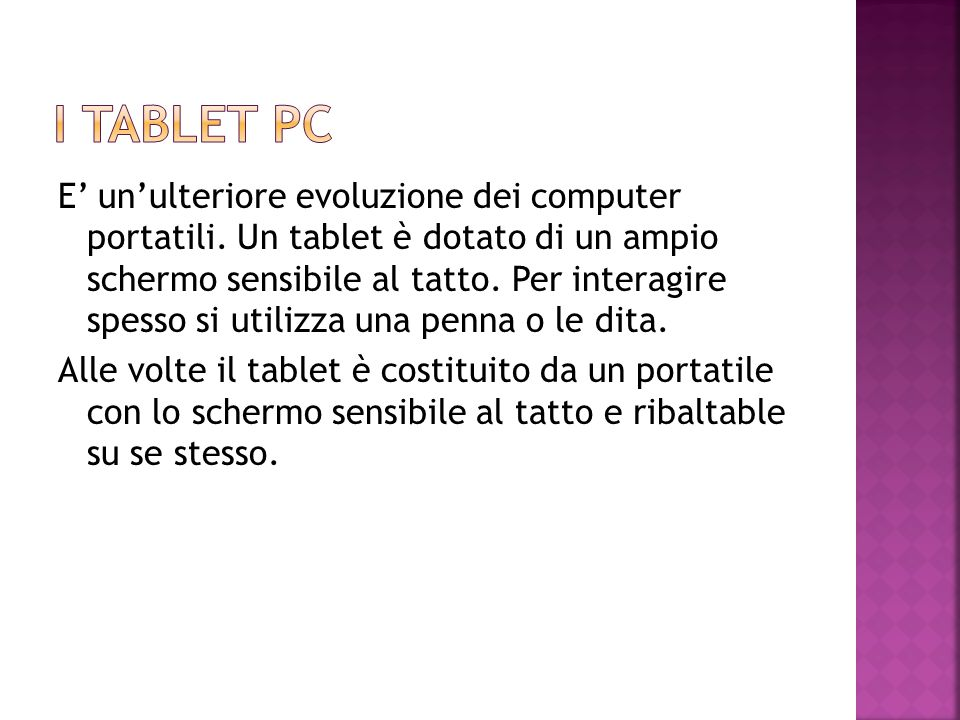 I tablet Pc