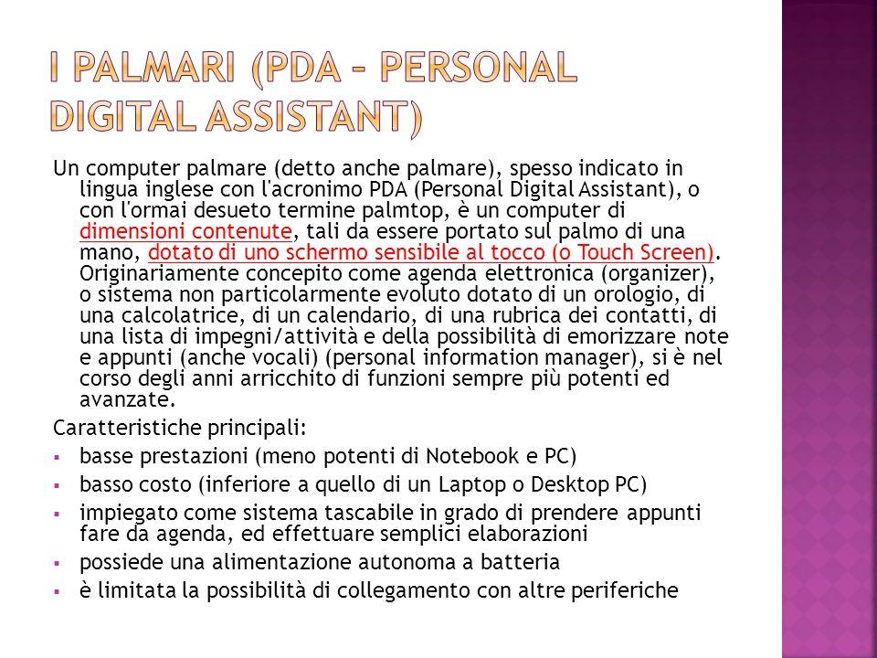 I Palmari (PDA – Personal Digital Assistant)