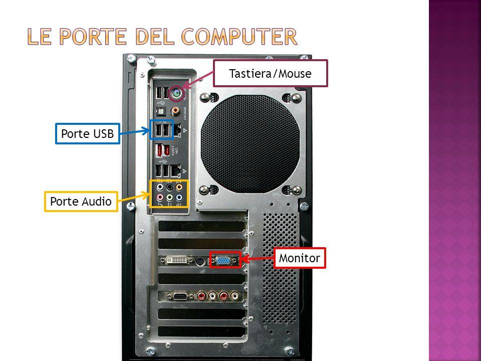 Le porte del computer Tastiera/Mouse Porte USB Porte Audio Monitor