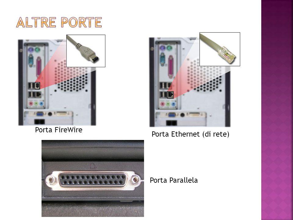 Altre porte Porta FireWire Porta Ethernet (di rete) Porta Parallela