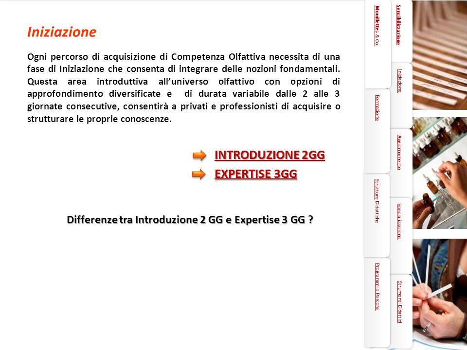 Iniziazione INTRODUZIONE 2GG EXPERTISE 3GG