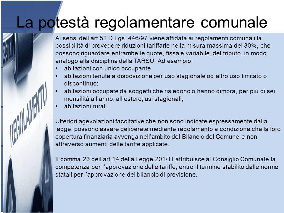 La potestà regolamentare comunale