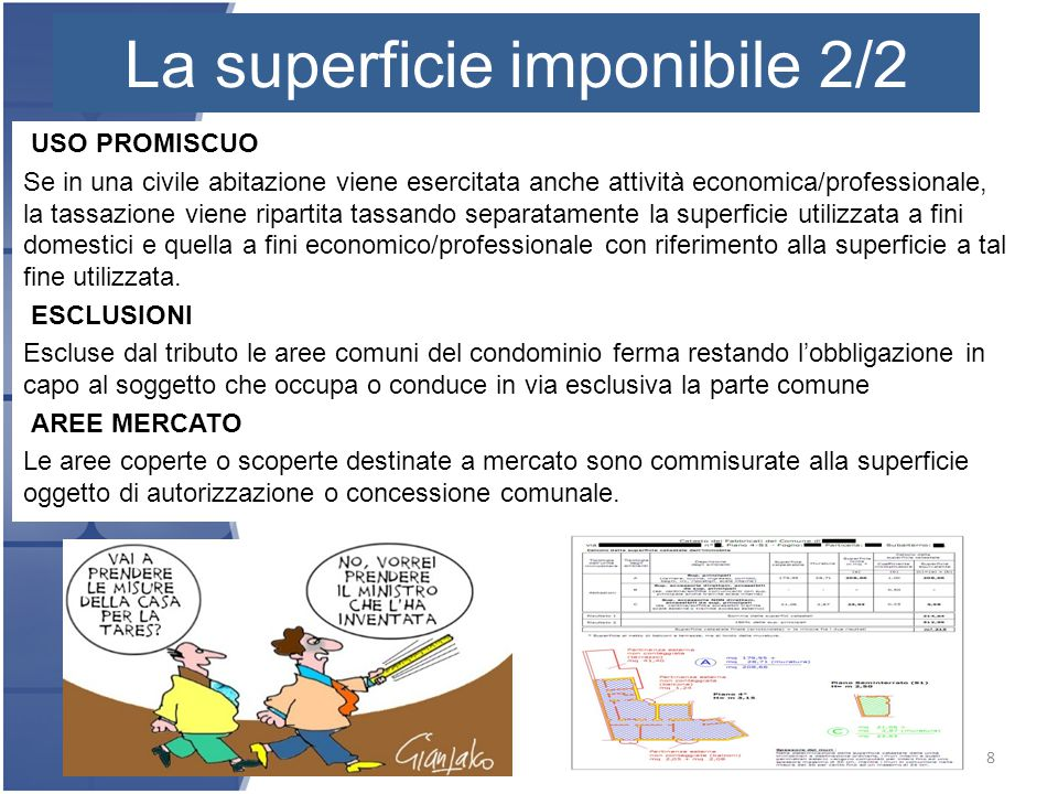 La superficie imponibile La superficie imponibile 2/2