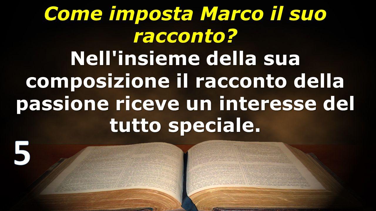 Come imposta Marco il suo racconto