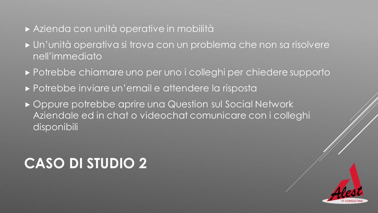 CASO DI STUDIO 2 Azienda con unità operative in mobilità