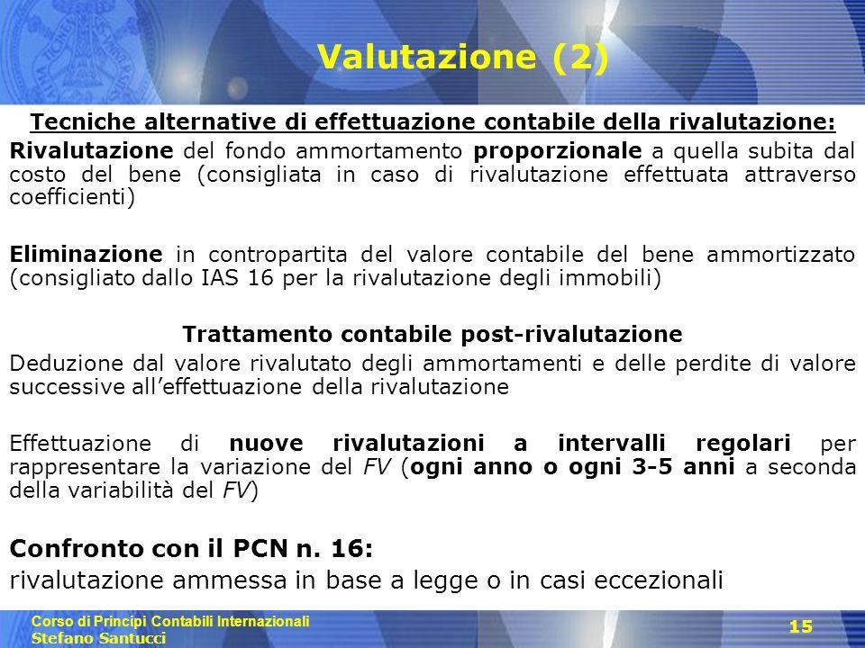 Valutazione (2) Confronto con il PCN n. 16: