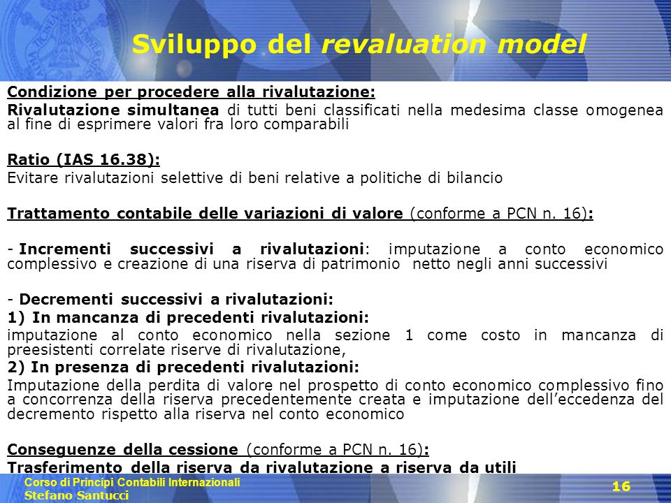 Sviluppo del revaluation model