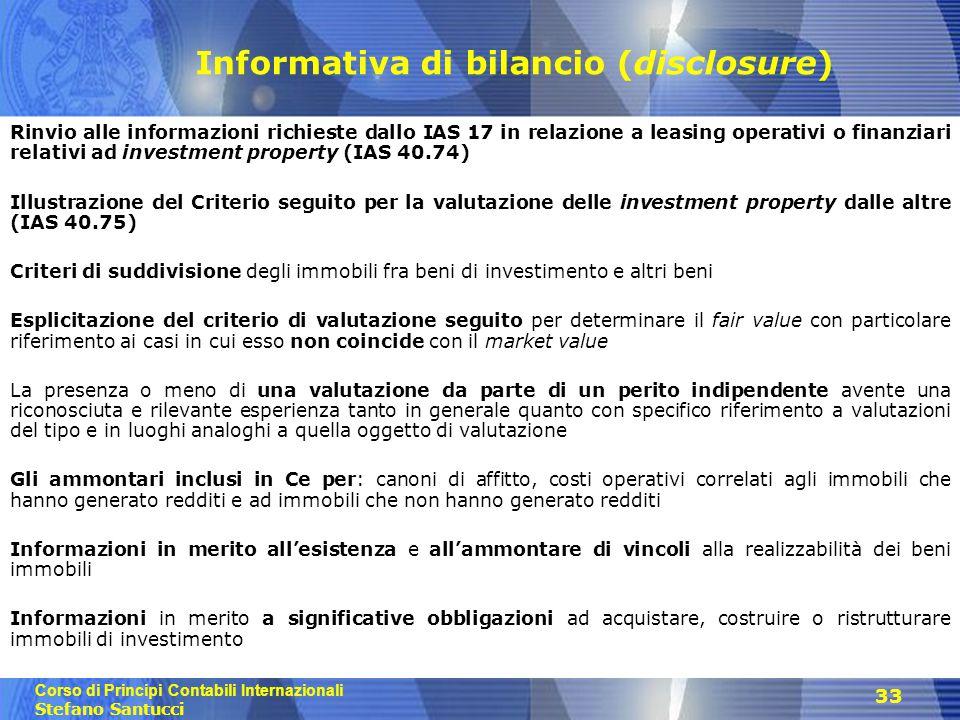 Informativa di bilancio (disclosure)