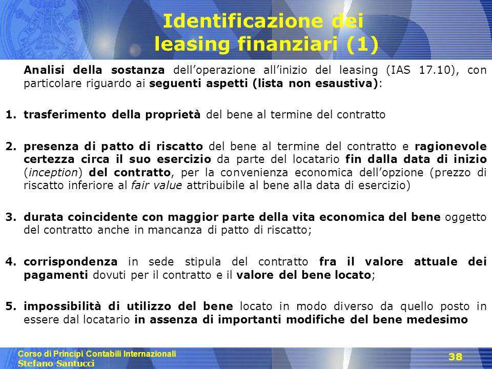 Identificazione dei leasing finanziari (1)