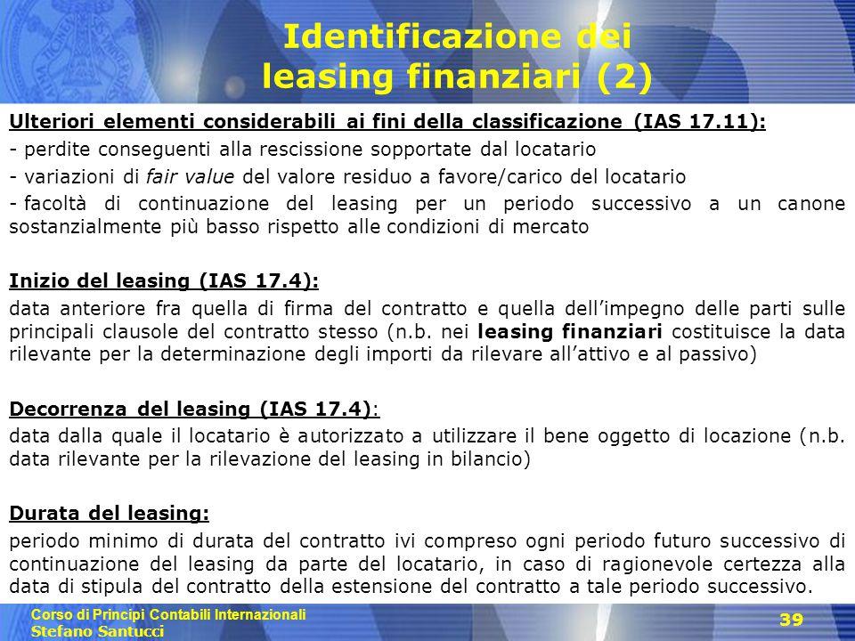 Identificazione dei leasing finanziari (2)