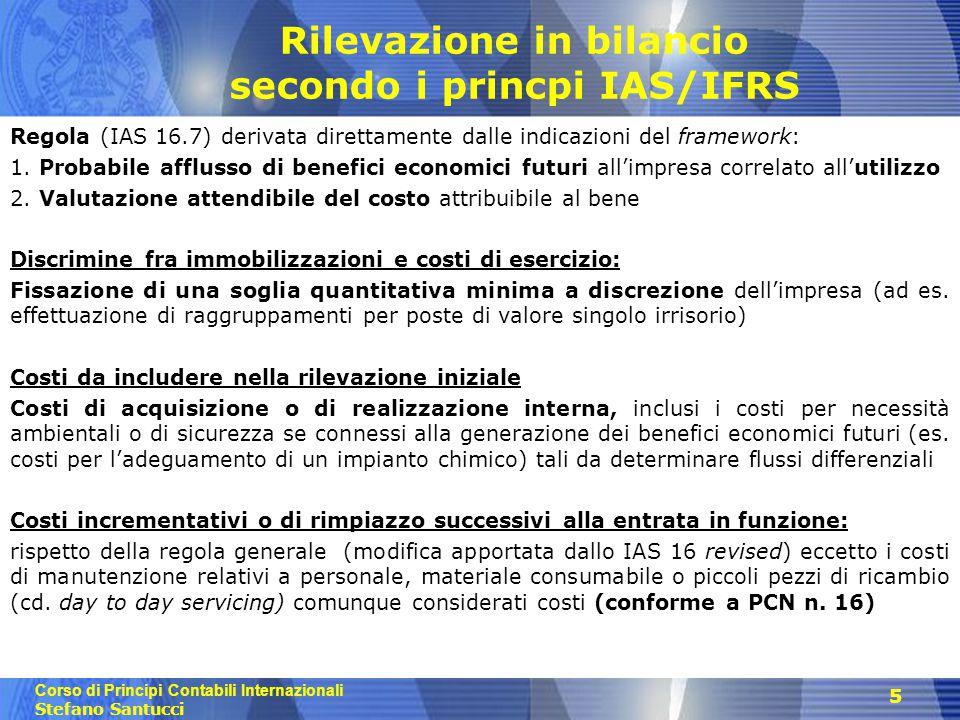Rilevazione in bilancio secondo i princpi IAS/IFRS
