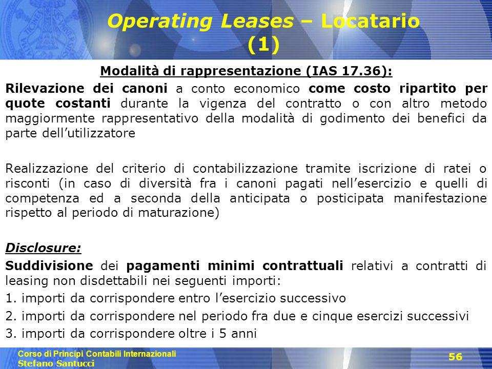 Operating Leases – Locatario (1)