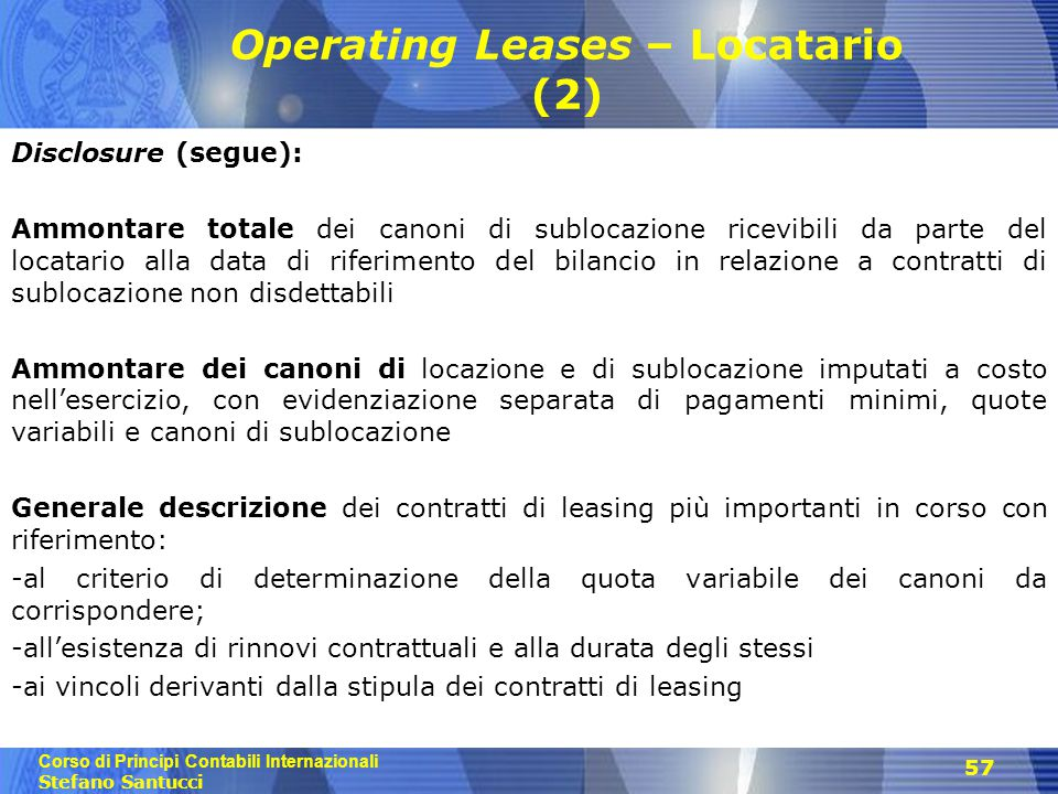 Operating Leases – Locatario (2)