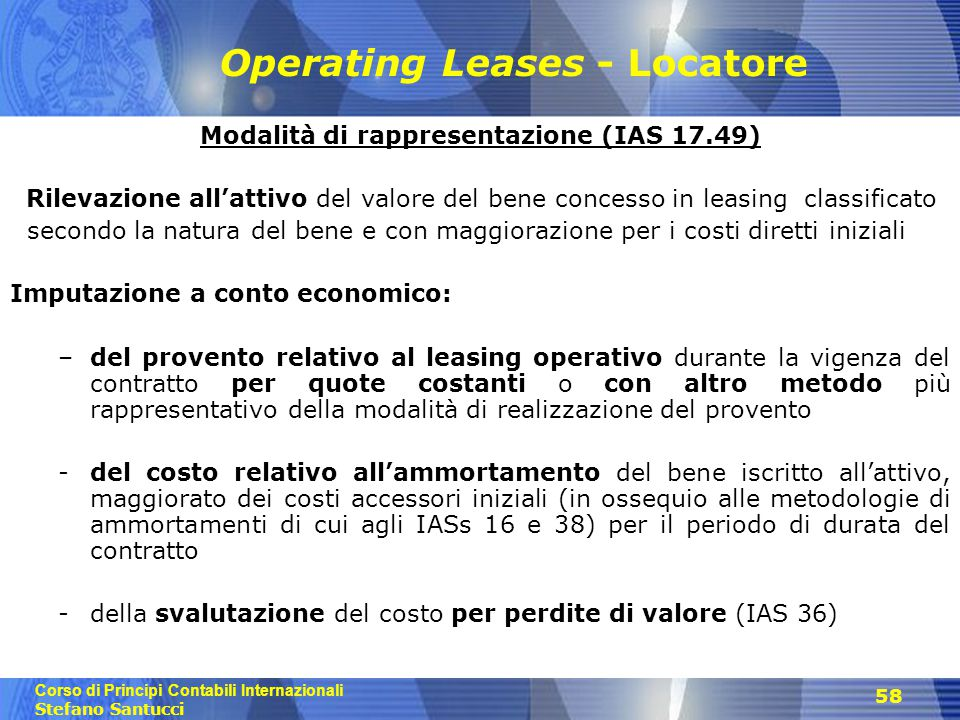 Operating Leases - Locatore