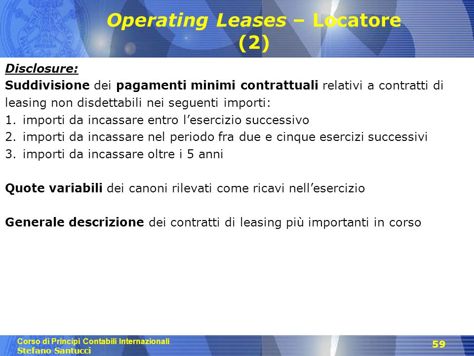 Operating Leases – Locatore (2)