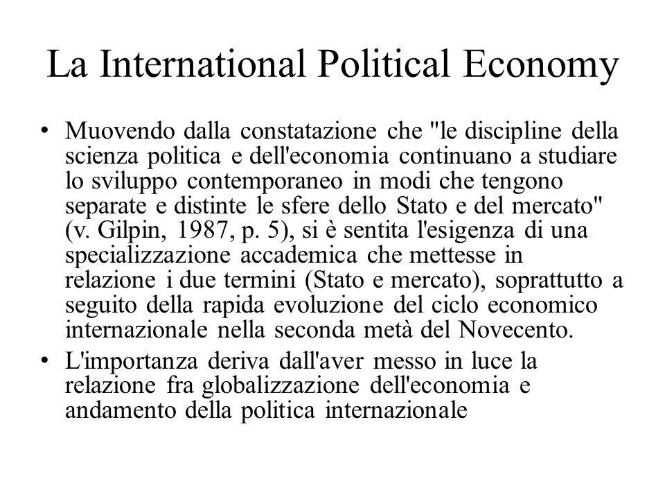 La International Political Economy