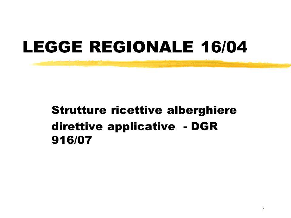 Strutture ricettive alberghiere direttive applicative - DGR 916/07