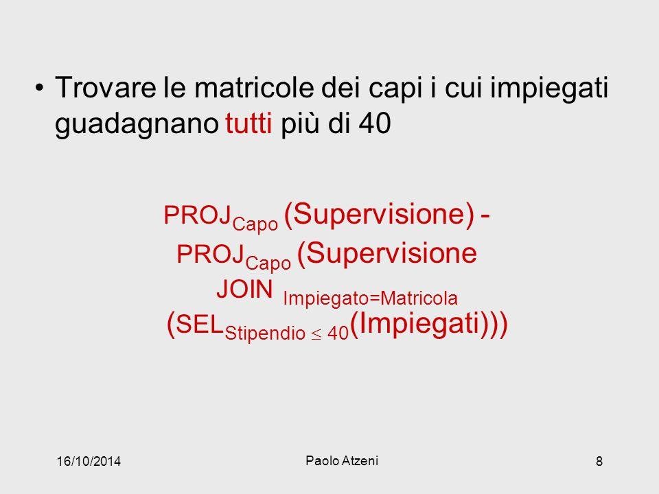 PROJCapo (Supervisione) -