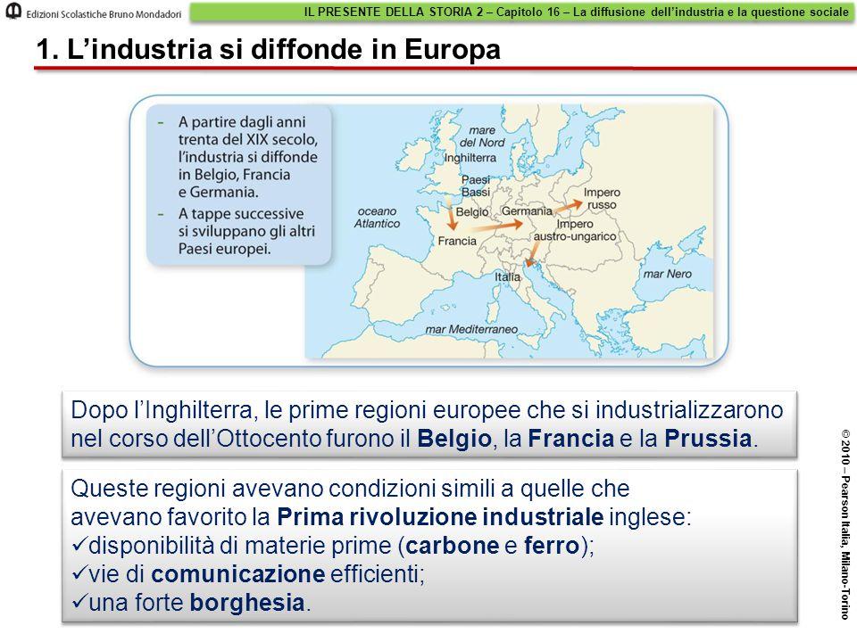 1. L'industria si diffonde in Europa