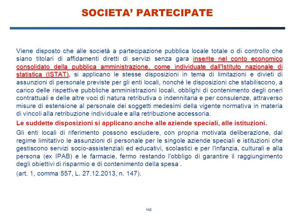 SOCIETA' PARTECIPATE