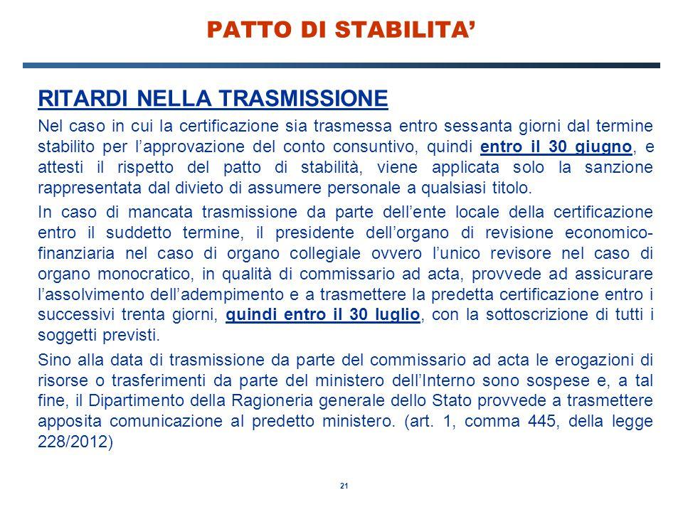 RITARDI NELLA TRASMISSIONE