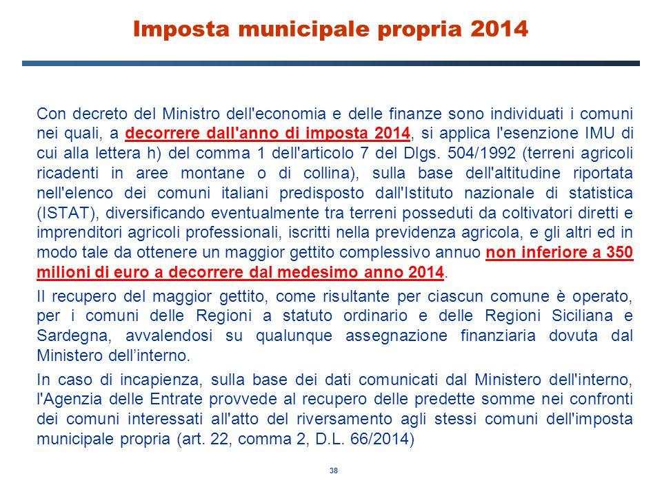 Imposta municipale propria 2014