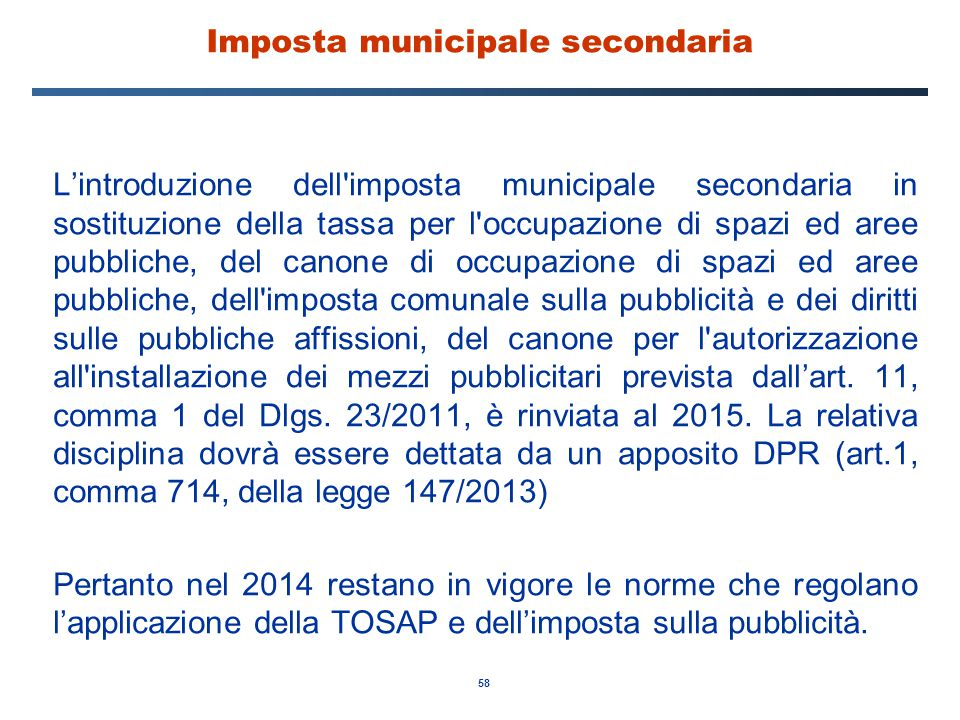 Imposta municipale secondaria