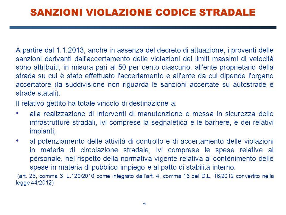 SANZIONI VIOLAZIONE CODICE STRADALE