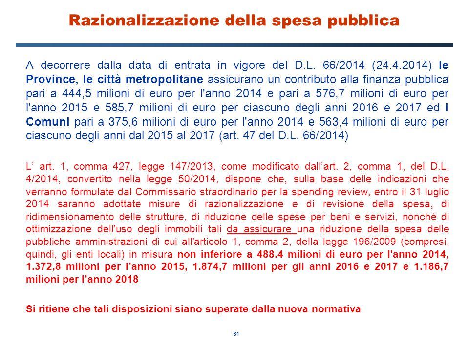 Razionalizzazione della spesa pubblica