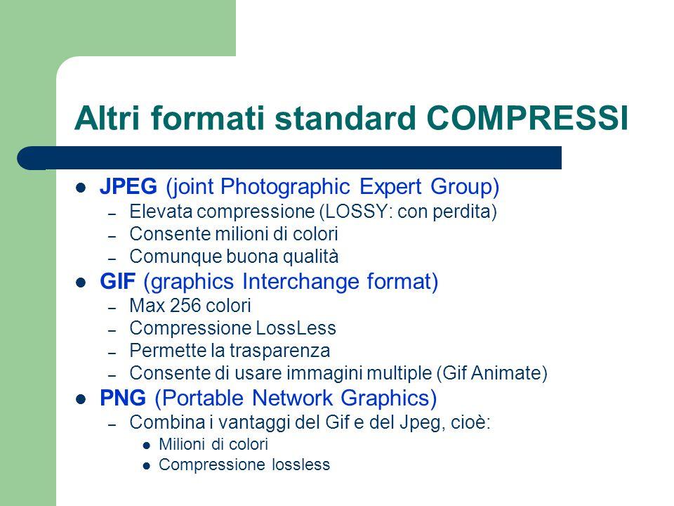 Altri formati standard COMPRESSI