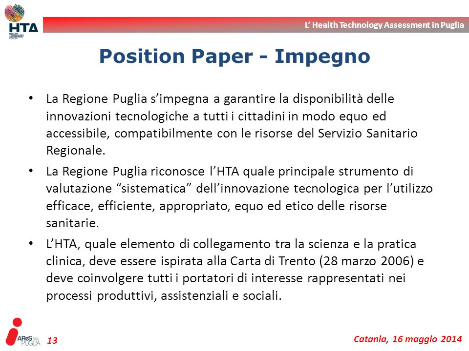 Position Paper - Impegno