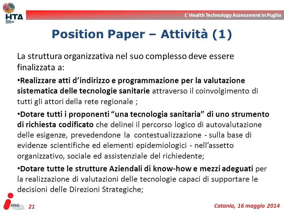 Position Paper – Attività (1)