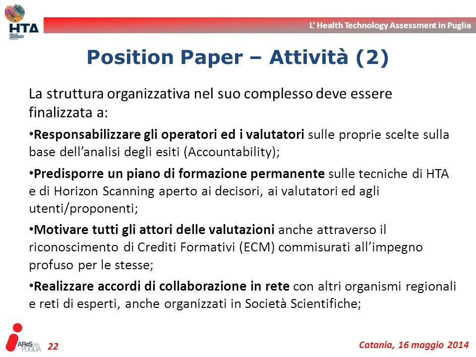 Position Paper – Attività (2)