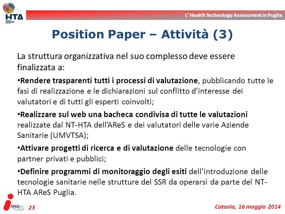 Position Paper – Attività (3)