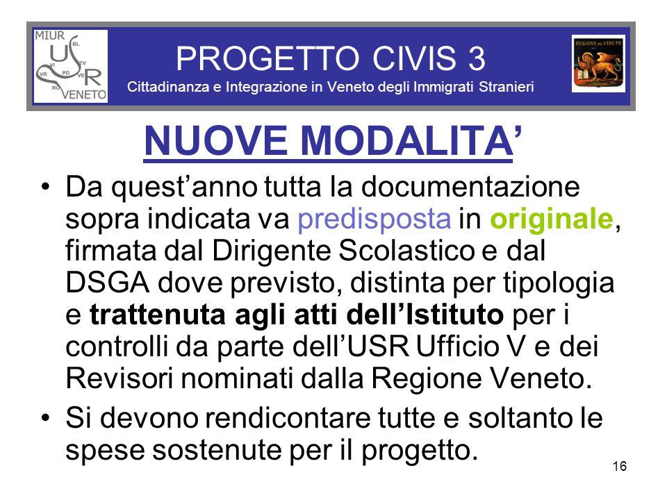 PROGETTO CIVIS 3 Cittadinanza e Integrazione in Veneto degli Immigrati Stranieri