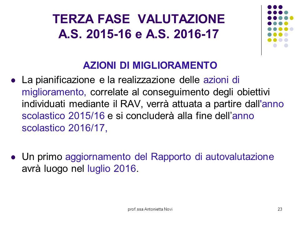 TERZA FASE VALUTAZIONE A.S. 2015-16 e A.S. 2016-17