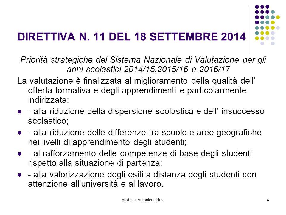 DIRETTIVA N. 11 DEL 18 SETTEMBRE 2014
