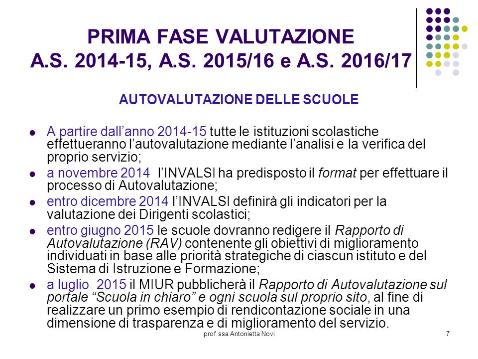 PRIMA FASE VALUTAZIONE A.S. 2014-15, A.S. 2015/16 e A.S. 2016/17